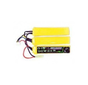 Batterie 11.1V 2200MAH li-po 3 sticks gun powder