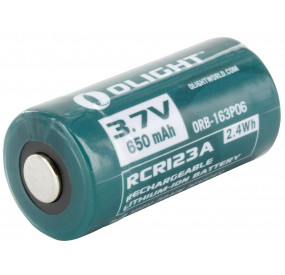 Pile rechargeable OLIGHT RCR123A Li-ion 3.7V 650mAh