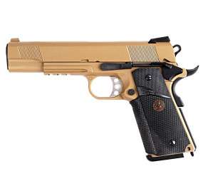 M1911 MEU Tan Métal Blowback Gaz - WE