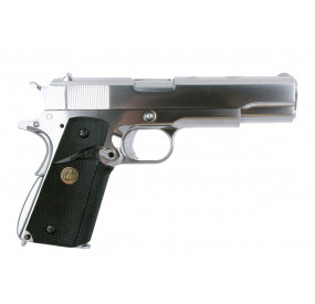 M1911 Silver métal blowback Gaz - WE