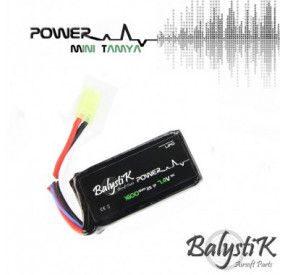 Batterie Li-Po 7.4V 1600mAh 20C (Mini-Tamiya) - BALYSTIK