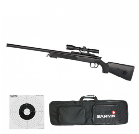 PACK SWISS ARMS Black Eagle 6 Sniper avec lunette point rouge + Bipied