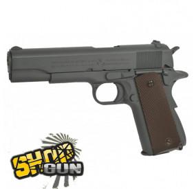 Pack Pistolet Colt 1911 M1911 A1 Co2 + 2 chargeurs + 5 Cartouches Co2 + Mallette de Transport + 5000 Billes 0.20g