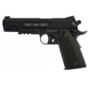 Colt 1911 rail gun Blackened Culasse fixe - CO²