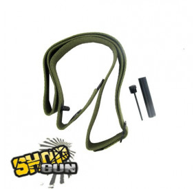 Sangle 2 points olive et applicateur de graisse pour M1 carbine CO²