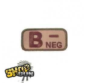 Patch velcro groupe sanguin B- multicam