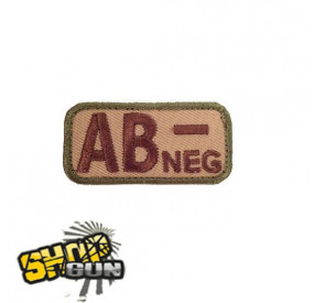 Patch velcro groupe sanguin AB- multicam