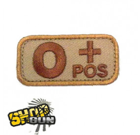 Patch groupe sanguin O+ DE