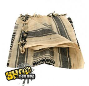 Shemagh Tan/Noir 100X100 cm Drakof Concept