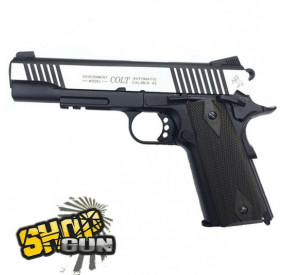 Colt 1911 rail gun dual tone Fullmetal Blowback CO²